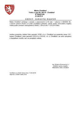 Záměr směny 12.05.2016