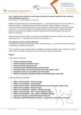 avizo_11_05_2016_Krajská zdravotní pořádá první ročník odborné