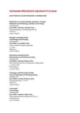 seznam předsedů oborových rad