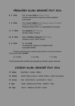 Seznam přednášek