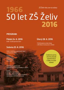 Oslavy 50 let ZŠ Želiv