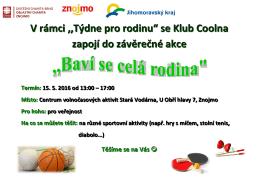 plakát Coolna - Oblastní charita Znojmo