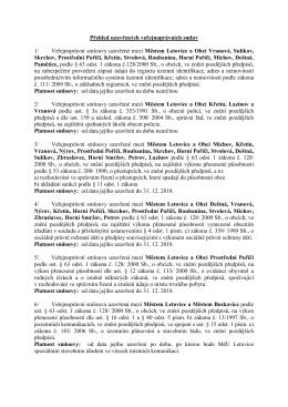 Přehled uzavřených veřejnoprávních smluv 1/ Veřejnoprávní