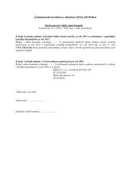Návrh usnesení z ŘVH konané 8.6.2016