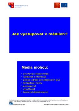 """Evropský sociální fond """"Praha& EU: Investujeme do vaší budoucnosti"""""""