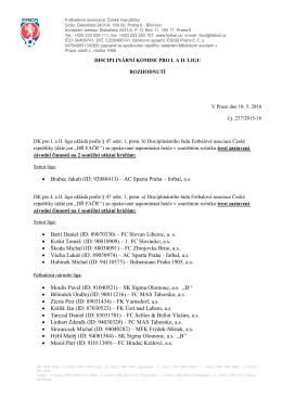 rozhodnutí 4. ŽK 8 ŽK 10.5.2016