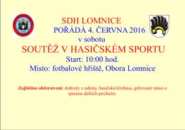 soutěž v hasičském sportu - Lomnice