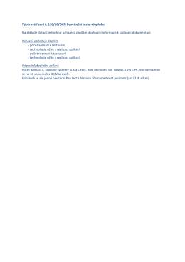 Výběrové řízení č. 116/16/OCN Penetrační testy