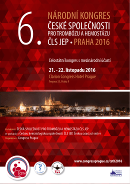 národní kongres - Česká společnost pro trombózu a hemostázu