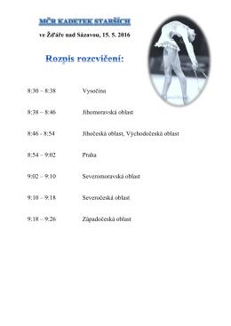 ve Žďáře nad Sázavou, 15. 5. 2016 8:30 – 8:38 Vysočina 8:38 – 8:46