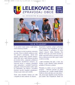 Květen – Červen - Obec Lelekovice