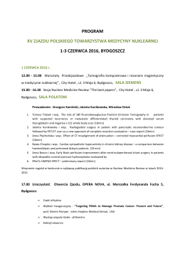 program xv zjazdu ptmn - bydgoszcz 2016