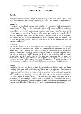 TRANSKRYPCJA NAGRAŃ Task 1.