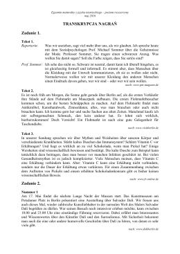 TRANSKRYPCJA NAGRAŃ Zadanie 1. Zadanie 2.