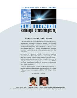 NOWE HORYZONTY Radiologii Stomatologicznej