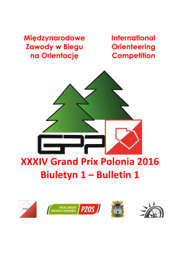 XXXIV Grand Prix Polonia 2016 Biuletyn 1 – Bulletin 1