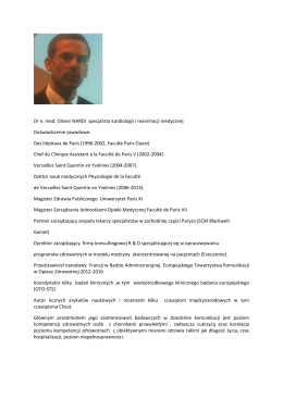 Dr n. med. Olivier NARDI specjalista kardiologii i reanimacji