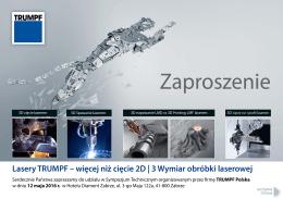 Zaproszenie - TRUMPF Polska