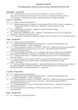 program targów - Targi Kielce