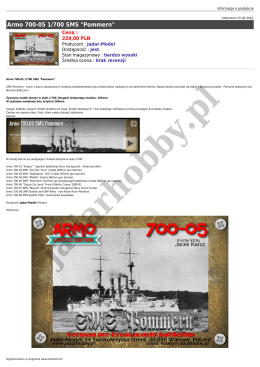 "Armo 700-05 1/700 SMS ""Pommern"""