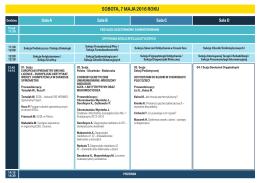 Szczegółowy program XXXIV Zjazdu PTCHP
