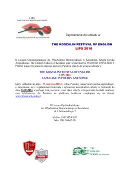 Regulamin konkursu - II LO im. Wł. Broniewskiego w Koszalinie