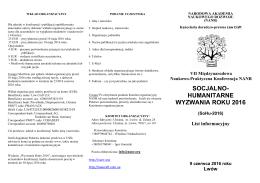 NANR Konferencja SoHu 2016 List Informacyjny