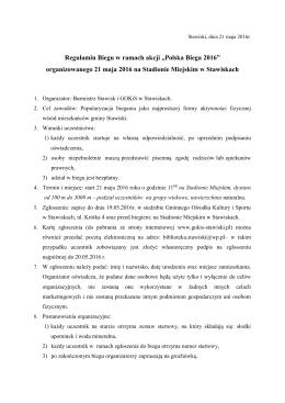 1. Regulamin akcji Polska Biega 2016
