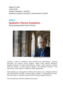 Golem Spotkanie z Pierrem Assoulinem