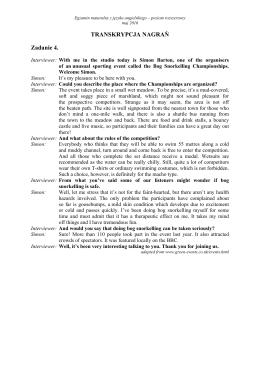 TRANSKRYPCJA NAGRAŃ Zadanie 4.