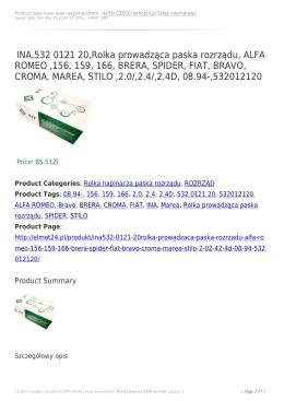 INA,532 0121 20,Rolka prowadząca paska rozrządu