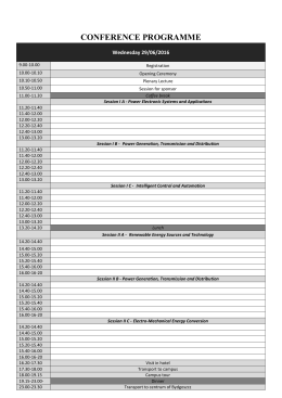 programme overview - CPE