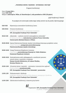 program konferencji 2016 05 13