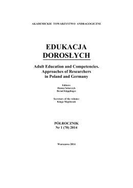 edukacja dorosłych - Akademickie Towarzystwo Andragogiczne