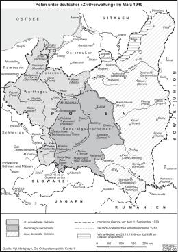 POLEN Polen unter deutscher »Zivilverwaltung« im März 1940