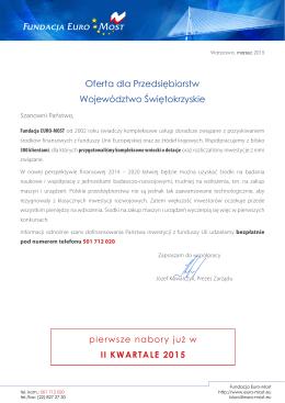 Oferta dla Przedsiębiorstw - Województwo Świętokrzyskie - Euro-Most