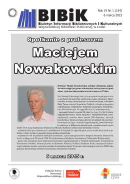 Spotkanie z profesorem Maciejem Nowakowskim