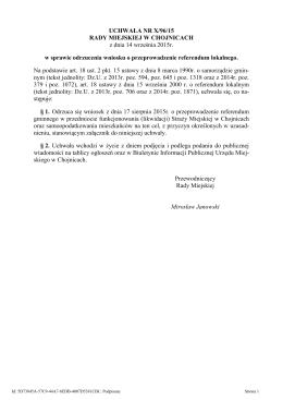 Treść uchwały - Miasto Chojnice