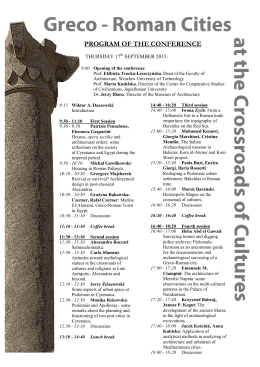 PROGRAM OF THE CONFERENCE
