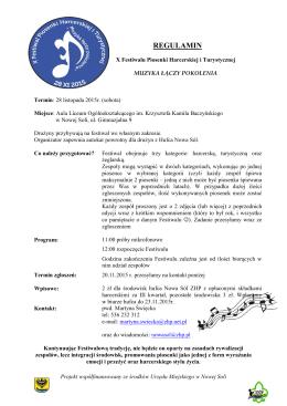 X Festiwal Piosenki Harcerskiej i Turystycznej