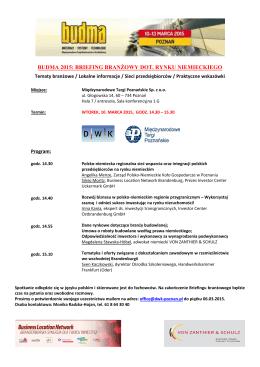 budma 2015: briefing branżowy dot. rynku niemieckiego
