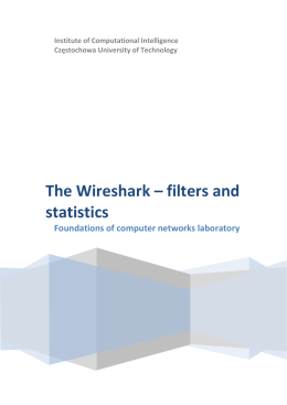 The Wireshark – filters and statistics
