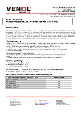 Venol Synthesis HC-EC Premium Active SM CF