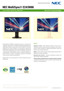 Do pobrania - NEC Display Solutions Europe