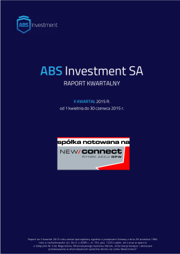 Raport za II kwartał 2015 roku