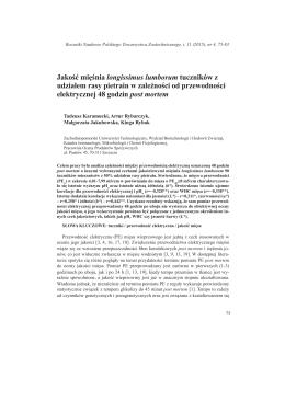 Jakość mięśnia longissimus lumborum tuczników z udziałem rasy