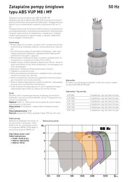 Zatapialne pompy śmigłowe typu ABS VUP M8 i M9 50 Hz