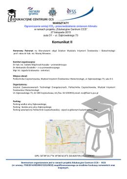 komunikat nr 2 - Instytut Zaawansowanych Technologii