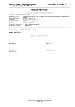 instalacje teletechniczne - przedmiar robót (PDF