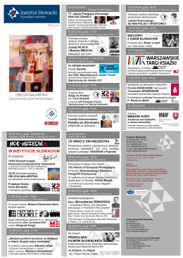 maj 2015.cdr - Instytut Słowacki w Warszawie